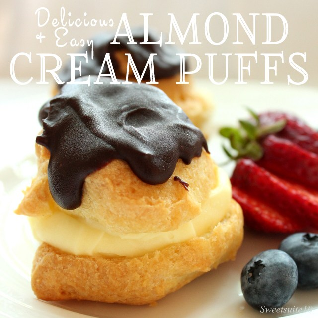 Almond cream puffs