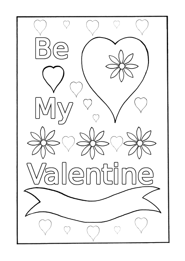 be my valentine coloring pages be my valentines coloring pages