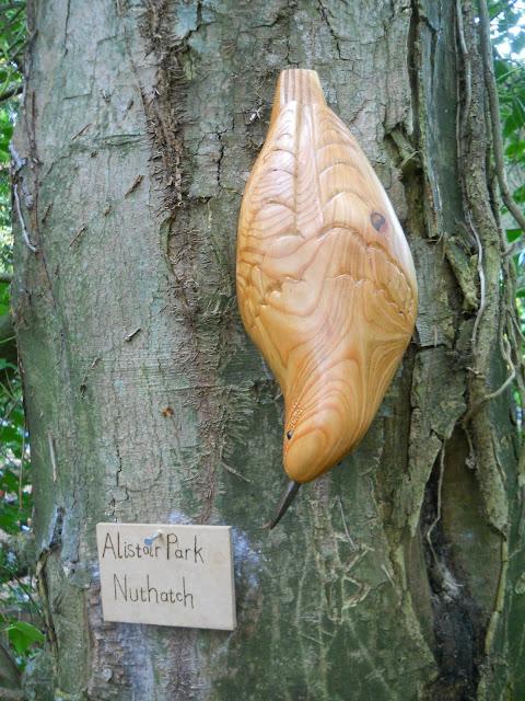 nuthatch sculpture British bird