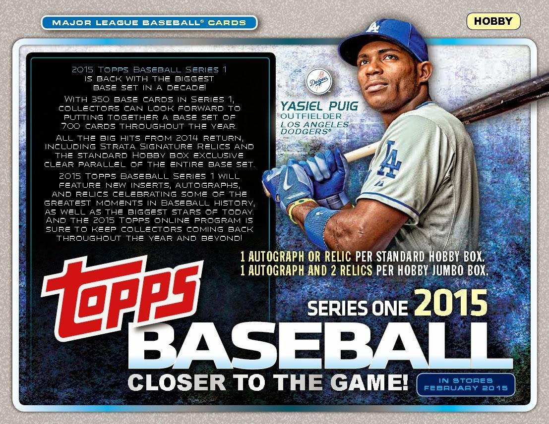 Bdj610s Topps Baseball Card Blog So The 2015 Topps Series 1 Sell