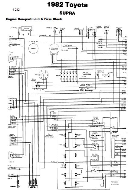 Toyota Supra 1982 Wiring Diagrams | Online Guide and Manuals