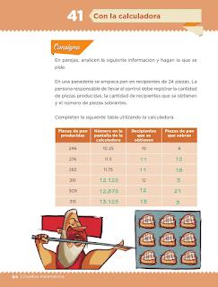Respuestas Apoyo Primaria Desafíos Matemáticos 5to. Grado Bloque III Lección 41 Con la calculadora
