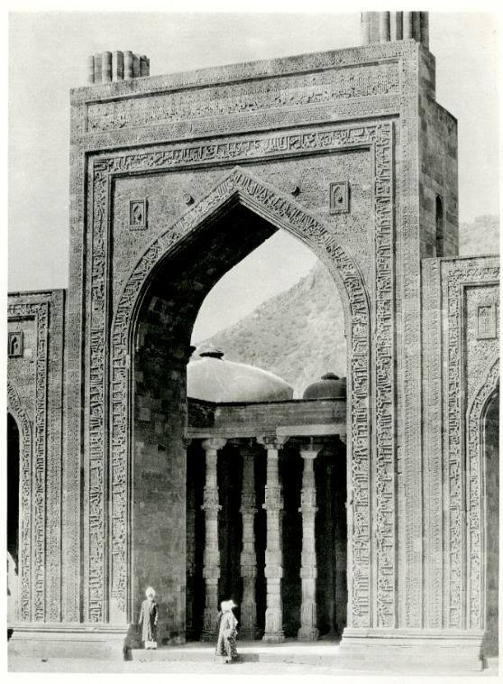 The Adhai-din-ka-jhonpra Mosque at Ajmer, Rajasthan India - 1928
