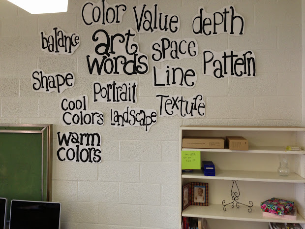 Color Art Word Wall