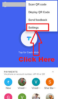 how to delete bank account in google tez upi app