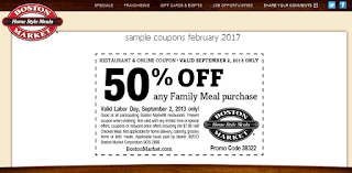 Boston Market coupons for february 2017