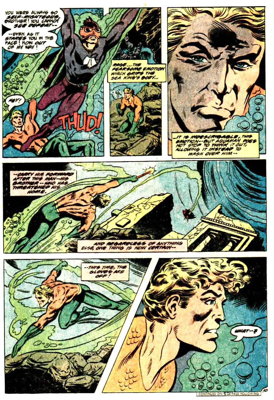Aquaman v1 #63 dc 1970s bronze age comic book page art by Don Newton