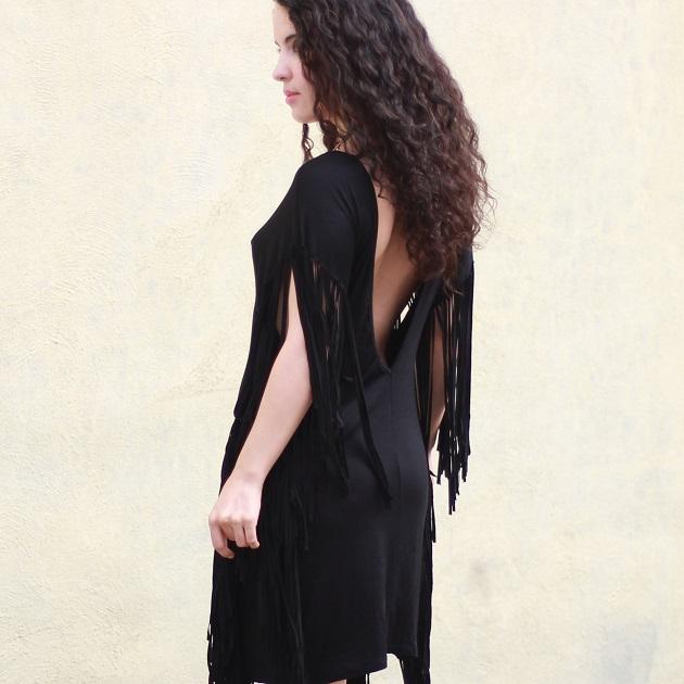 Tobi Black Fringe Dress