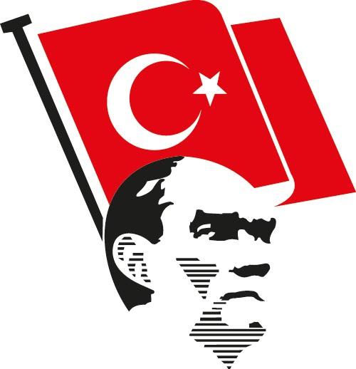 23 Nisan Atatürk Türk Bayrağı Vektör