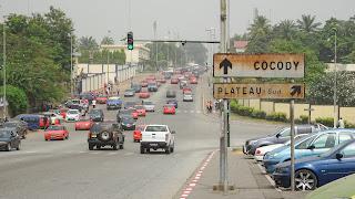 Big but quiet district in Abidjan