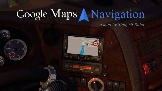 sinagrit baba ets 2 mods, ets 2 google maps navigation