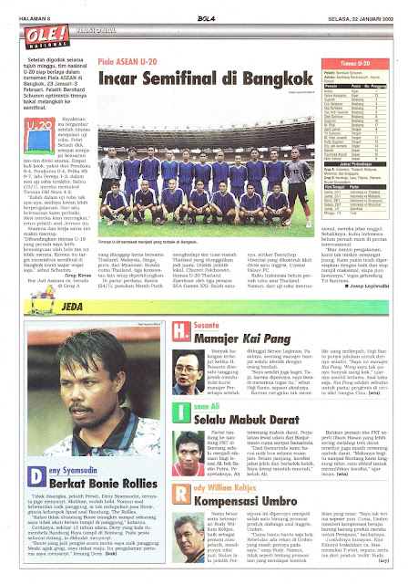 PIALA ASEAN U-20 INCAR SEMIFINAL DI BANGKOK