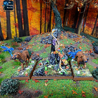 Orion King in the Woods Wood Elves Avatar with Hounds