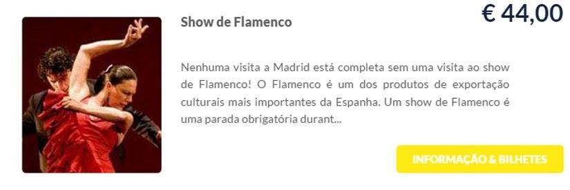 Madri - compre ingressos on-line para as atrações - Show de Flamengo - Ticketbar