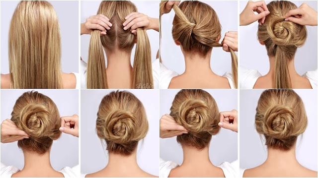 peinados fáciles con el cabello recogido