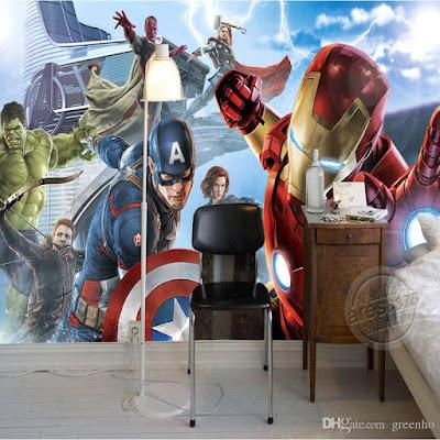 tapet marvel fototaper iron man captain america hulk killtapet ungdomstapet