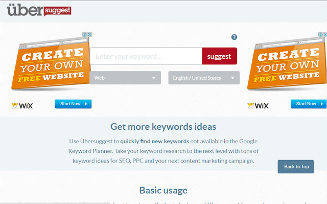 how to get more keywords ideas with ubbersuggest