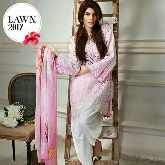 b11727c9c1 Embroidered Lawn Suit with Digital Printed Silk Dupatta - Jiddat ...