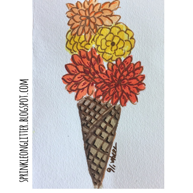 Sprinkle On Glitter Blog// Instagram Roundup//flower ice cream cone