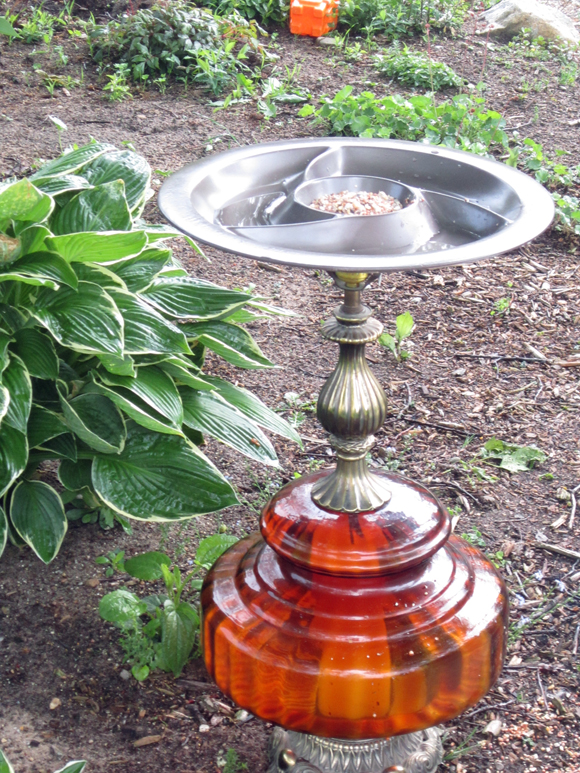 A Lamp Birdbath?? - Second Chance To Dream