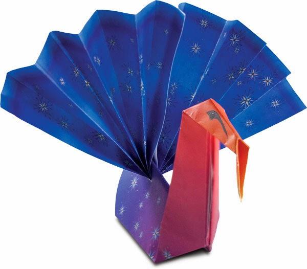 Thanksgiving Turkey Origami   Origami turkey, Holiday origami ...   526x600