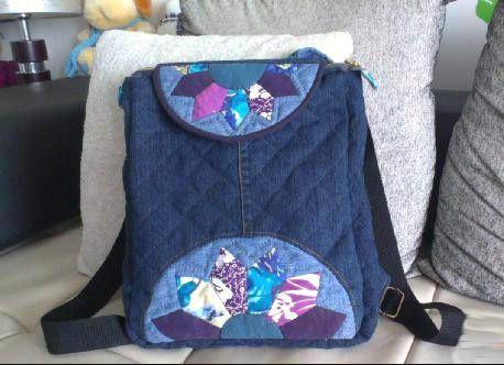 Recycle Jeans/Denim Backpack Patchwork Tutorial. Шьем Джинсовый рюкзак.