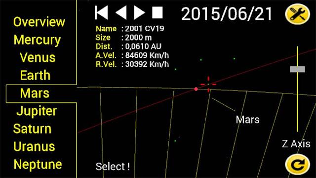 Asteroid alert - aplicativo monitoramento de asteroides -