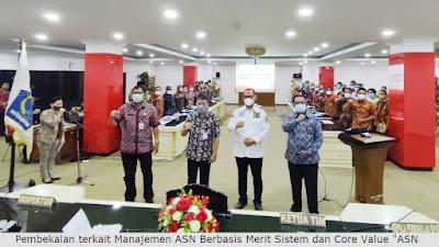 Gubernur Olly Hadiri Pembekalan Manajemen ASN Berbasis Merit Sistem