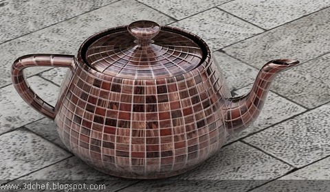 mosaic tile material for V-Ray