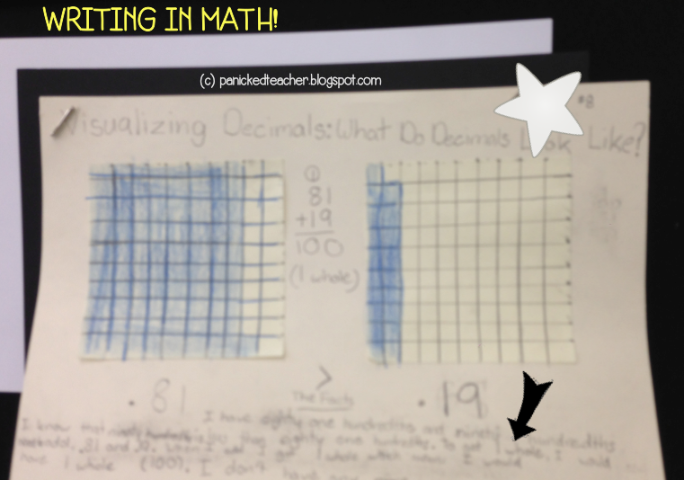 Writing in Math Decimal Reflections 5th Grade 4th Grade Teaching Decimals