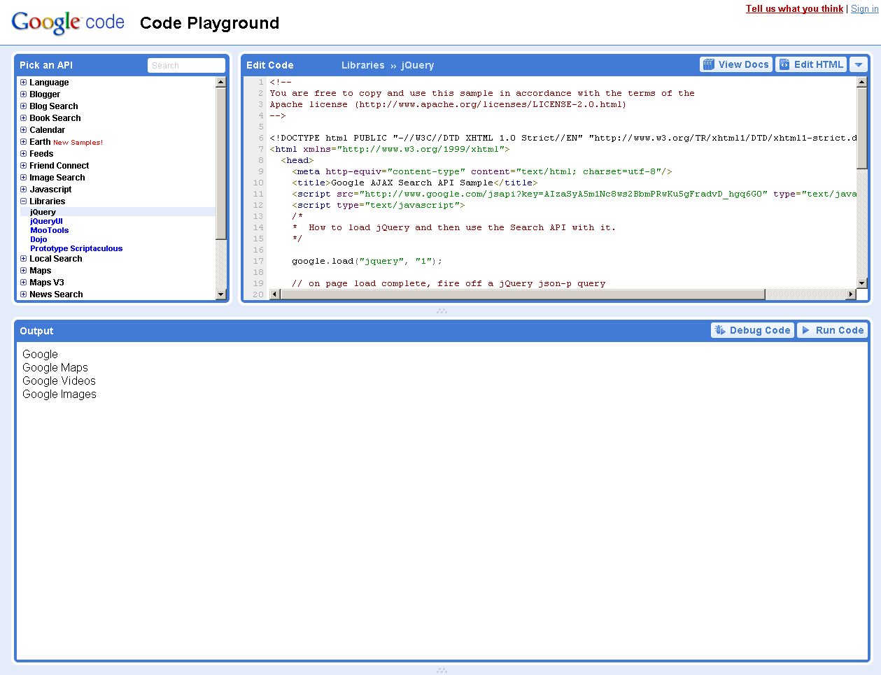 Write and test your jQuery code online | jQuery By Example