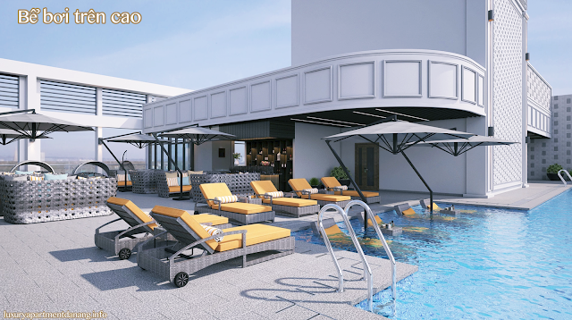 Bể bơi trên cao của Luxury Apartment