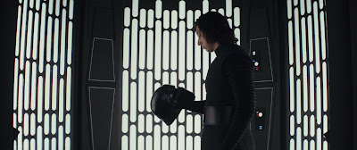 Adam Driver as Kylo Ren in Star Wars: The Last Jedi