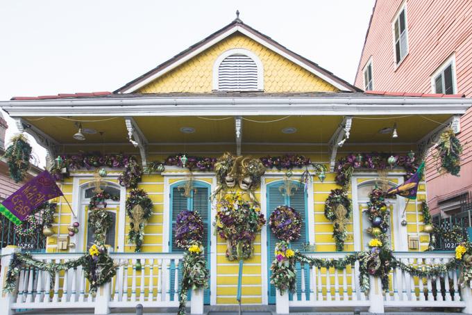 colorful house, yellow, mardi gras