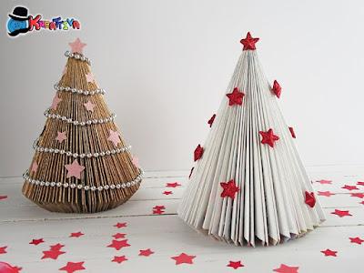 albero di natale alternativo con stelle di polistirolo