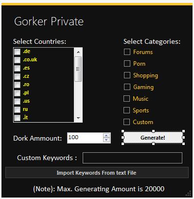 SRC-Gorker Private Source Code