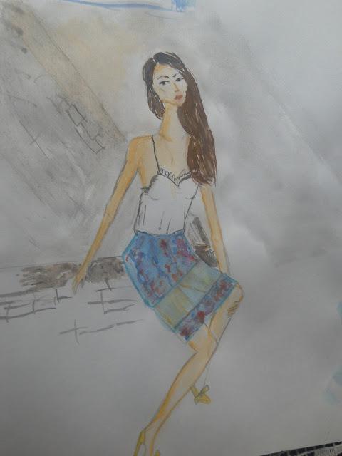 akvarel modna ilustracija
