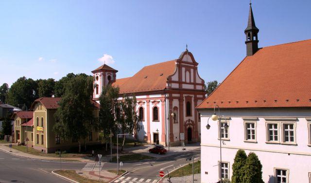 Перекрёсток улиц Jičínská и Lidická в Пршиборе в настоящее время