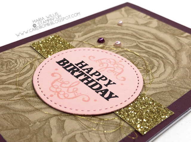 March 2018 Paper Pumpkin Kit, May Good Things Grow, Cardbomb, Maria Willis, Stampin' Up!, stamping, cards, ink, paper, handmade, create, craft, vintage, flowers, paper craft, roses, Paper Pumpkin alternate, All Things Thanks