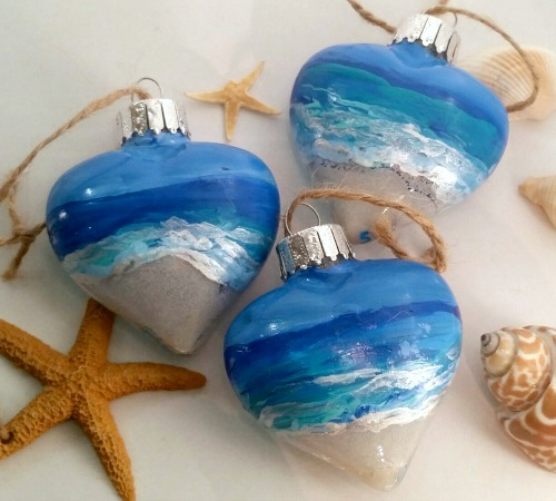 Painted Beach Ornaments