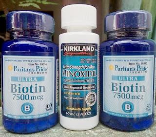 Paket Penumbuh Brewok dan Rambut Botak Kirkland Minoxidil + Biotin 7500mcg 100% original