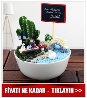 Sevgililere Özel Minyatür Mini Bahçe