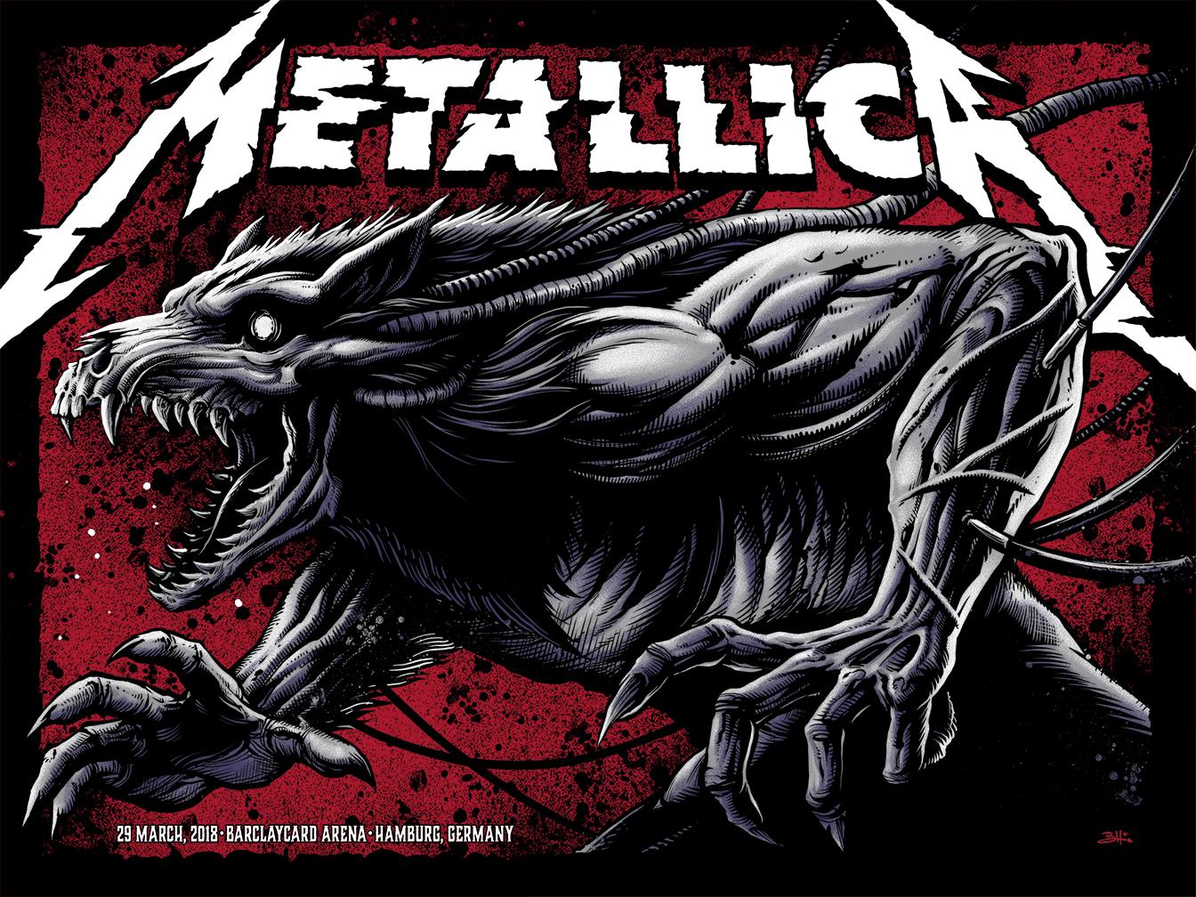 INSIDE THE ROCK POSTER FRAME BLOG: Brandon Heart Metallica