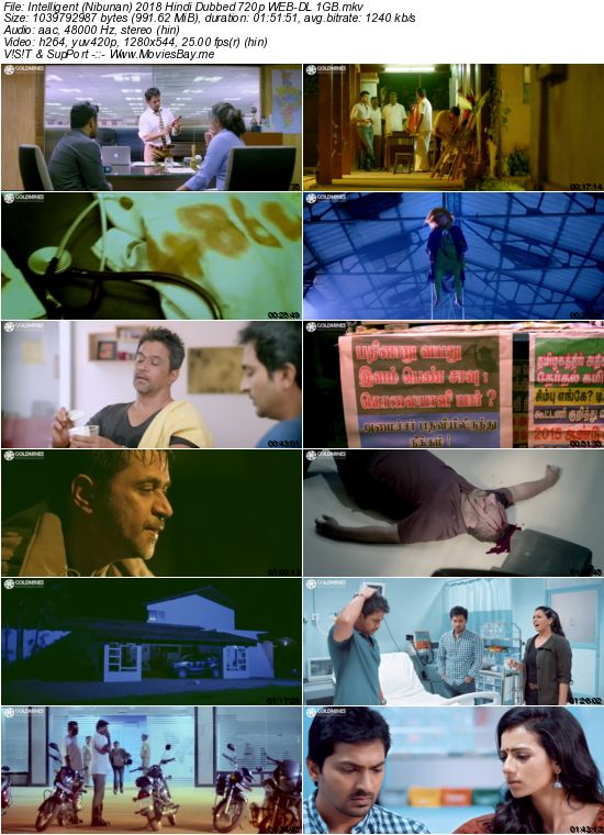 Intelligent 2018 Hindi Dubbed 720p WEB-DL 1GB worldfree4u