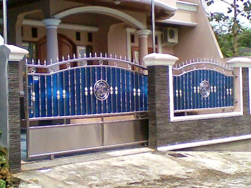 ツ 60+ model desain pagar rumah minimalis (batu alam, besi & kayu