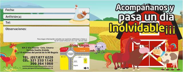 Invitacion editable granero paquetes fiesta cumpleaños Bogota