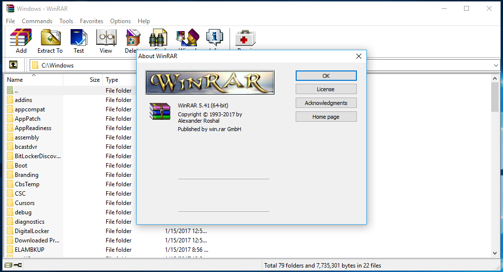 WinRAR 5.41 Final Full Version   Icha Laila