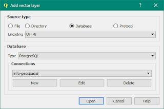 memanggil layer di dalam database PostgreSQL