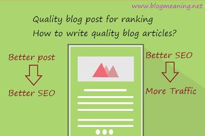 Quality Blog Posts