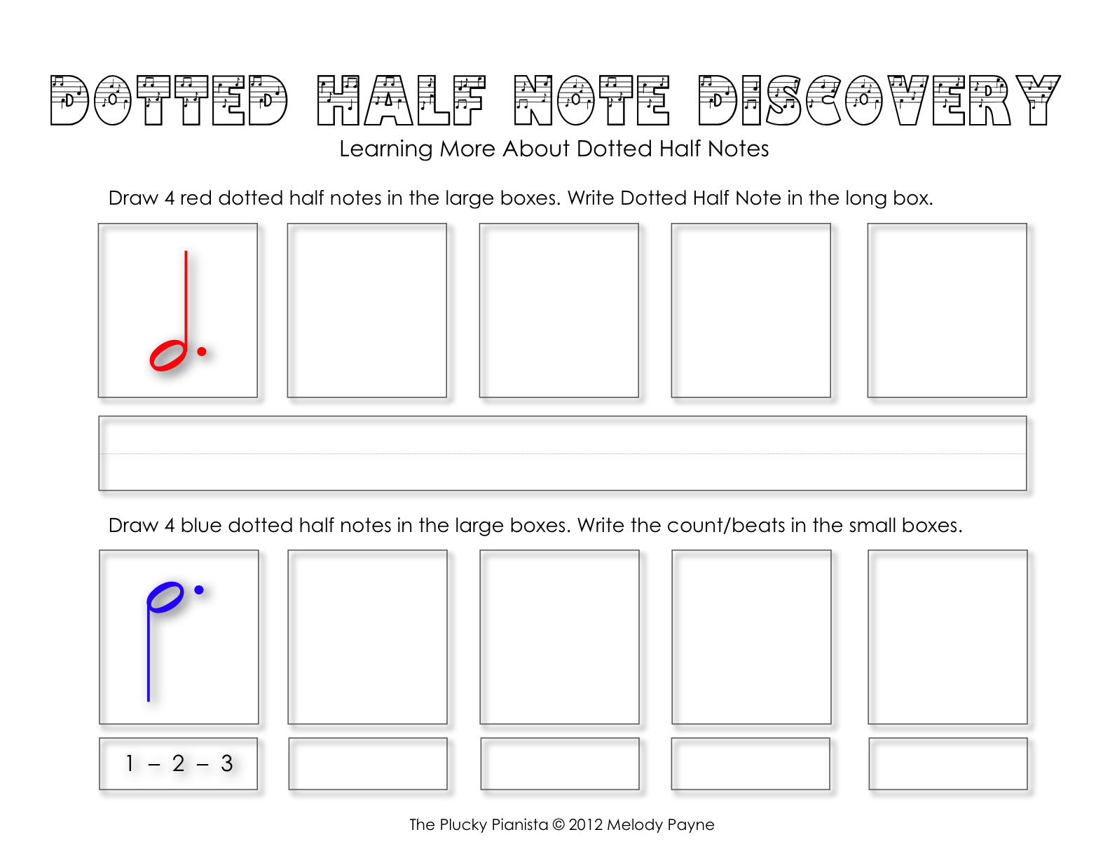 Dotted Half Note Discovery